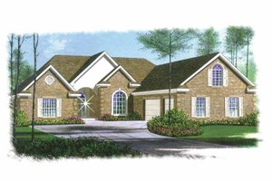 Traditional Exterior - Front Elevation Plan #15-304