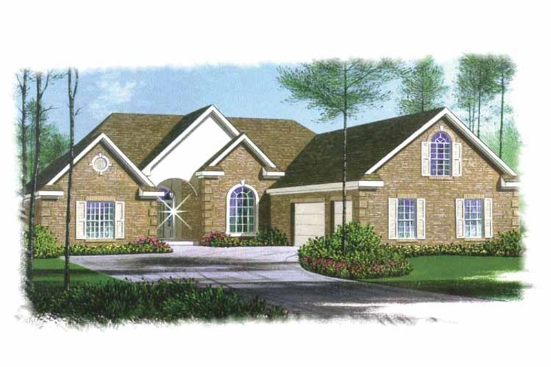 Traditional Exterior - Front Elevation Plan #15-304 - Houseplans.com