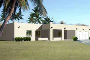 Adobe / Southwestern Style House Plan - 3 Beds 2 Baths 1740 Sq/Ft Plan #1-1345 Exterior - Front Elevation