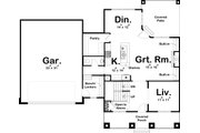 Bungalow Style House Plan - 3 Beds 2.5 Baths 2251 Sq/Ft Plan #455-220 Floor Plan - Main Floor Plan