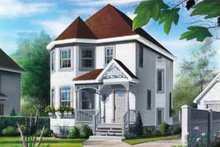 House Design - European Exterior - Front Elevation Plan #23-451