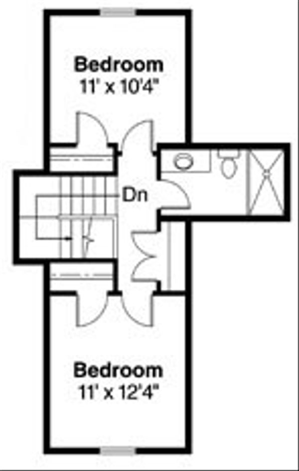 Craftsman Floor Plan - Upper Floor Plan Plan #124-746