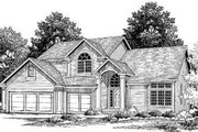 Traditional Style House Plan - 3 Beds 2.5 Baths 2316 Sq/Ft Plan #334-108 Exterior - Front Elevation