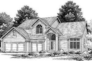 Traditional Exterior - Front Elevation Plan #334-108