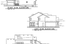 Architectural House Design - Rear, Right & Left Elevations