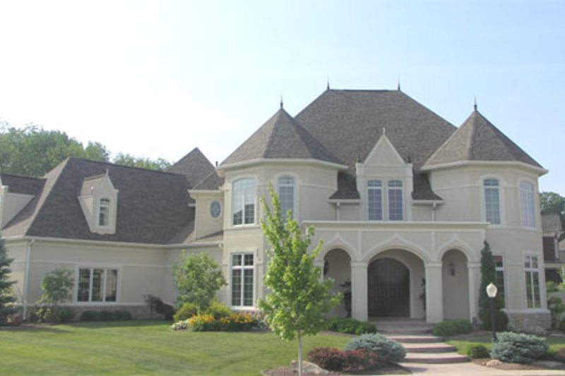 European Style House Plan - 5 Beds 6 Baths 7142 Sq/Ft Plan #458-9 Exterior - Front Elevation