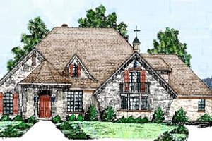 European Exterior - Front Elevation Plan #52-120