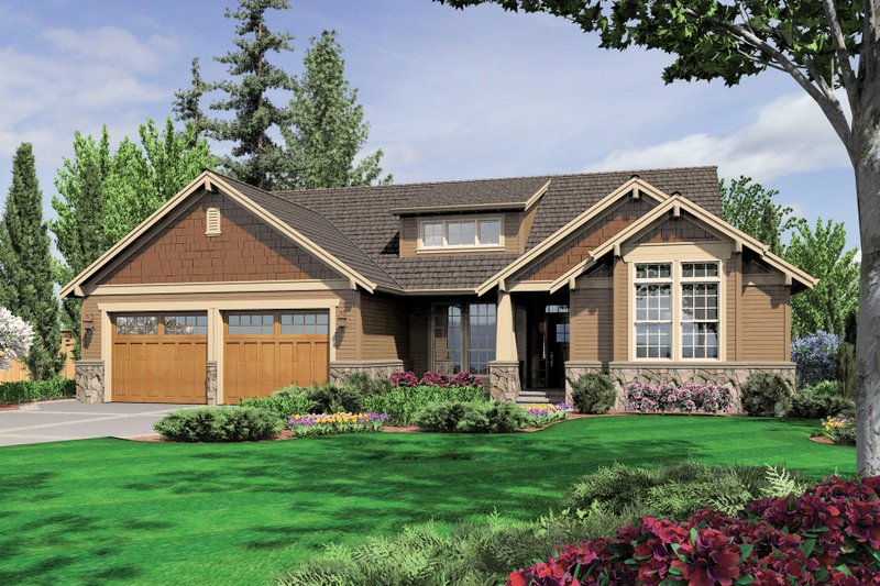 Craftsman Exterior - Front Elevation Plan #48-601