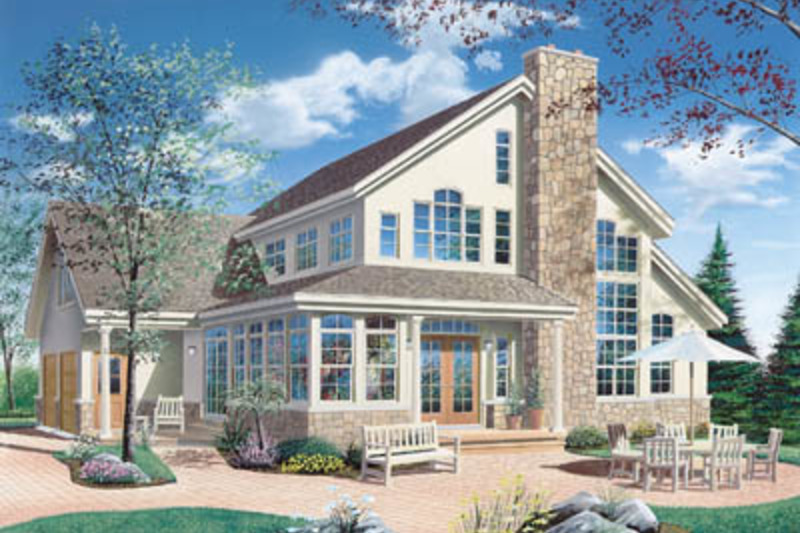 Traditional Exterior - Front Elevation Plan #23-250 - Houseplans.com