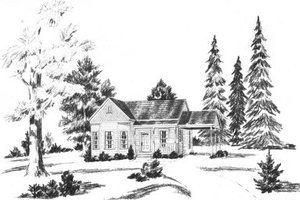Cottage Exterior - Front Elevation Plan #36-266