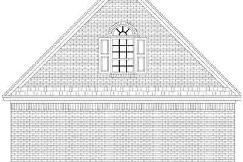 Traditional Exterior - Rear Elevation Plan #21-170 - Houseplans.com