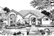 European Style House Plan - 4 Beds 3.5 Baths 2311 Sq/Ft Plan #417-233 Exterior - Front Elevation