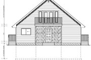 Cottage Style House Plan - 4 Beds 3 Baths 3164 Sq/Ft Plan #126-167 Exterior - Rear Elevation
