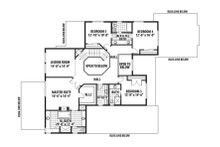 Craftsman Floor Plan - Upper Floor Plan Plan #569-41