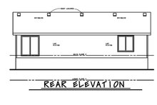 Architectural House Design - Traditional Exterior - Rear Elevation Plan #20-2347