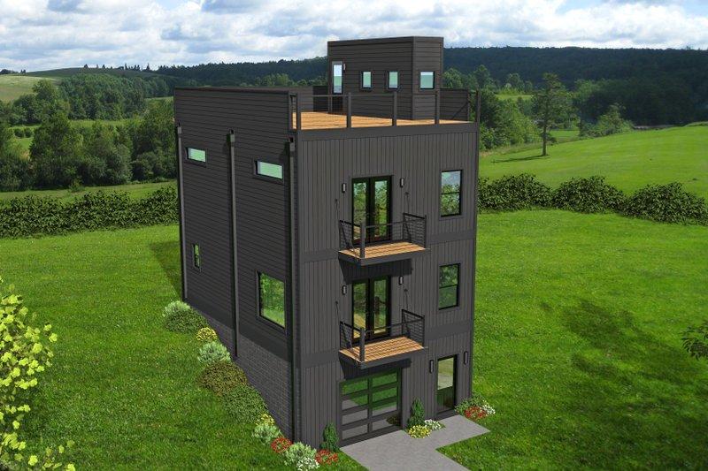 House Plan Design - Contemporary Exterior - Front Elevation Plan #932-324
