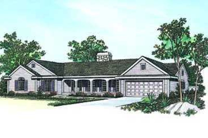 Architectural House Design - Traditional Exterior - Front Elevation Plan #72-139