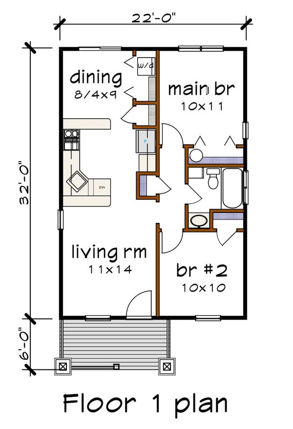 Craftsman Floor Plan - Main Floor Plan Plan #79-101