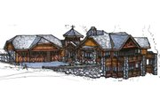 Craftsman Style House Plan - 3 Beds 2.5 Baths 5150 Sq/Ft Plan #921-26 Exterior - Front Elevation
