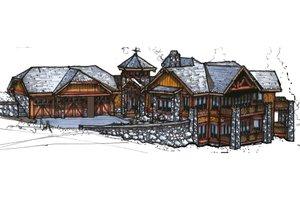 Craftsman Exterior - Front Elevation Plan #921-26