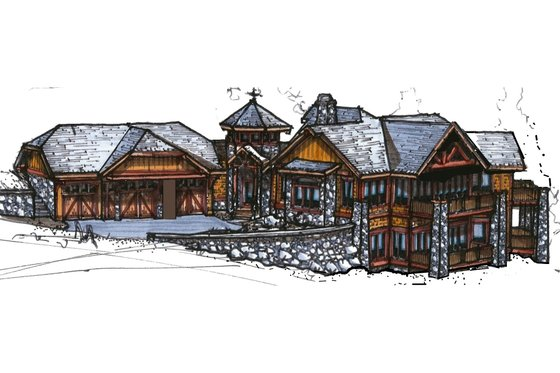 Craftsman Exterior - Front Elevation Plan #921-26