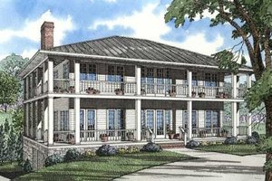 Southern Exterior - Front Elevation Plan #17-2053