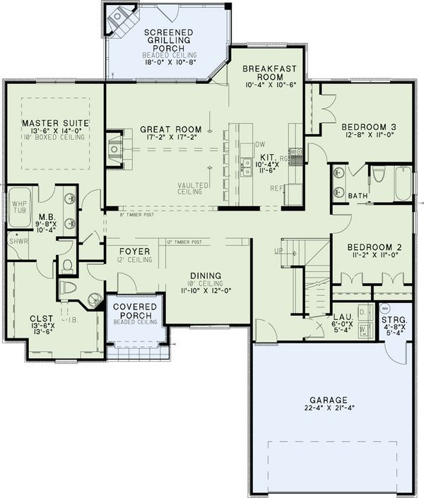 European Floor Plan - Main Floor Plan Plan #17-2488