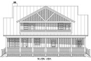 Country Style House Plan - 3 Beds 3.5 Baths 1972 Sq/Ft Plan #932-3 Exterior - Rear Elevation