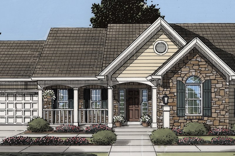 Home Plan - Country Exterior - Front Elevation Plan #46-895