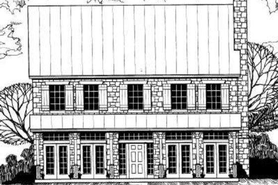 European Exterior - Front Elevation Plan #317-133