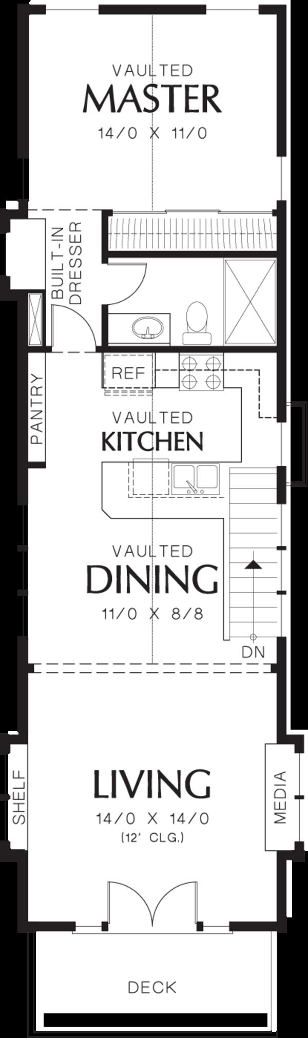 Craftsman Floor Plan - Upper Floor Plan #48-569