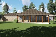 Craftsman Style House Plan - 3 Beds 3 Baths 2933 Sq/Ft Plan #935-10 Exterior - Rear Elevation