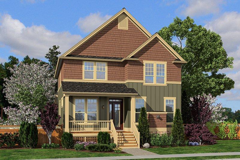 Architectural House Design - Craftsman Exterior - Front Elevation Plan #48-920