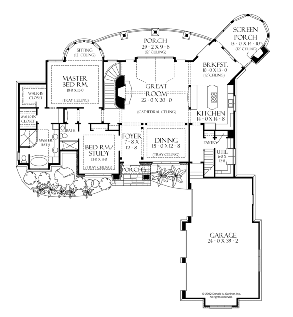 European Floor Plan - Main Floor Plan Plan #929-893