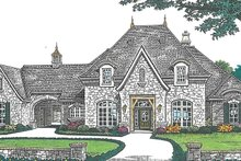 European Exterior - Front Elevation Plan #310-1256
