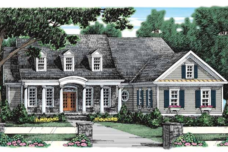 Classical Exterior - Front Elevation Plan #927-910