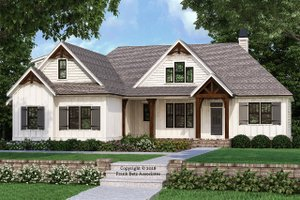 Farmhouse Exterior - Front Elevation Plan #927-989
