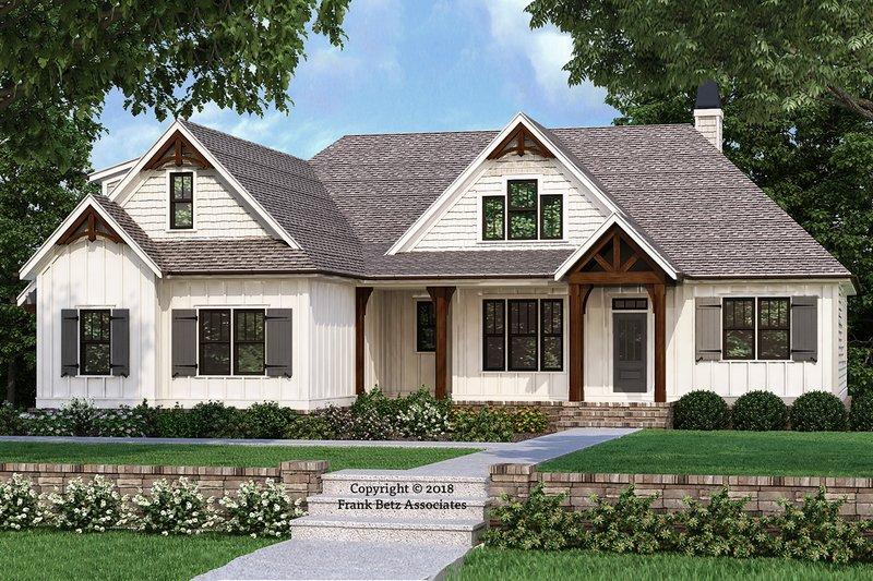 Farmhouse Exterior - Front Elevation Plan #927-989