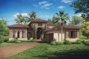 Mediterranean Style House Plan - 3 Beds 3 Baths 3648 Sq/Ft Plan #930-449 Exterior - Front Elevation