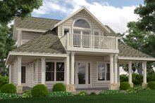 Country Exterior - Front Elevation Plan #472-396