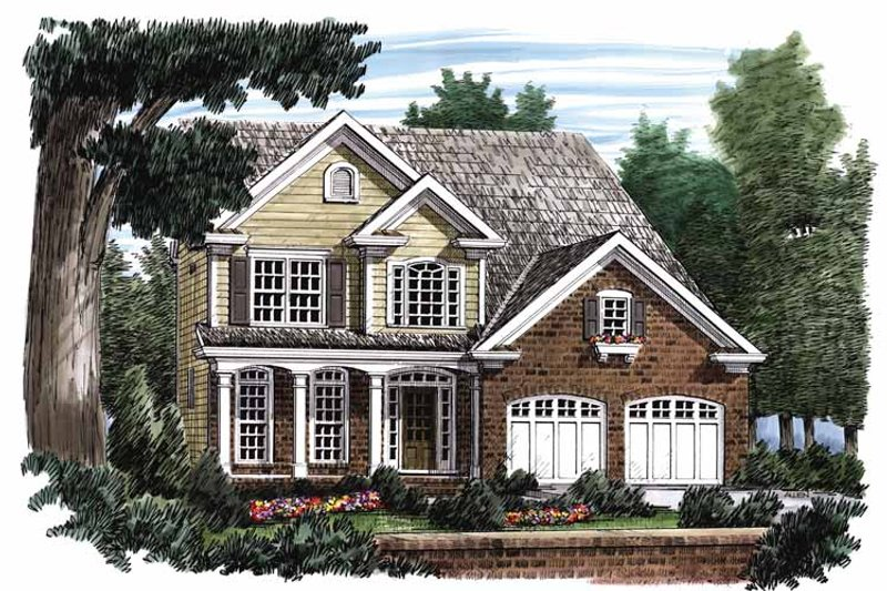 Country Exterior - Front Elevation Plan #927-651