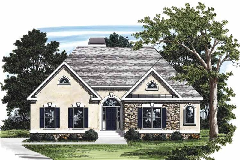 Country Exterior - Front Elevation Plan #927-124