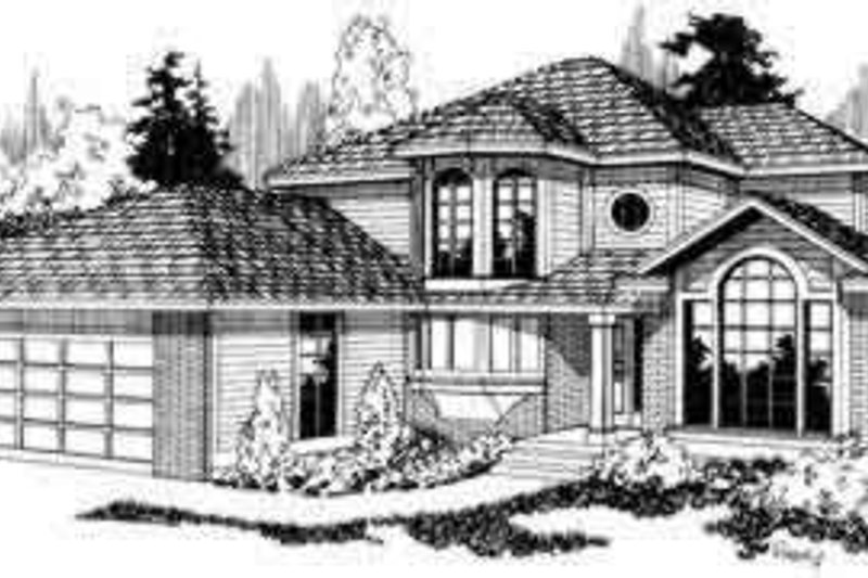 Traditional Exterior - Front Elevation Plan #124-110 - Houseplans.com