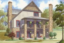Architectural House Design - Country Exterior - Rear Elevation Plan #17-3380