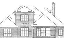 House Plan Design - European Exterior - Rear Elevation Plan #310-1258