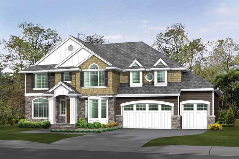 Dream House Plan - Craftsman Exterior - Front Elevation Plan #132-463