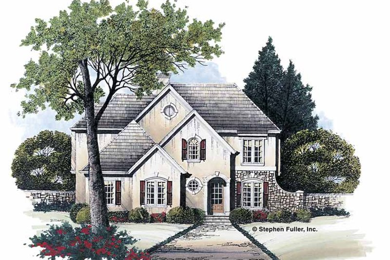 Architectural House Design - Country Exterior - Front Elevation Plan #429-82