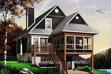 Home Plan - Beach Exterior - Front Elevation Plan #23-866