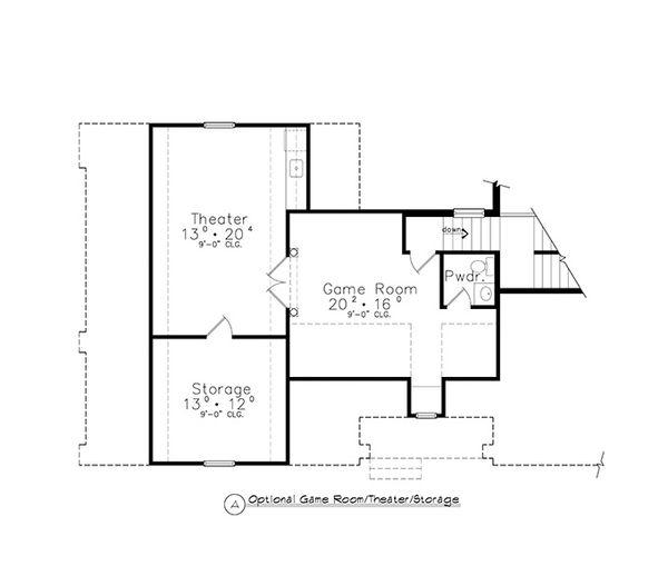 Colonial Floor Plan - Other Floor Plan Plan #417-812