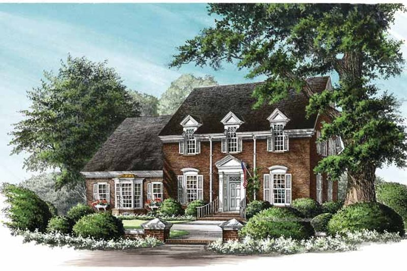 Classical Exterior - Front Elevation Plan #137-325 - Houseplans.com